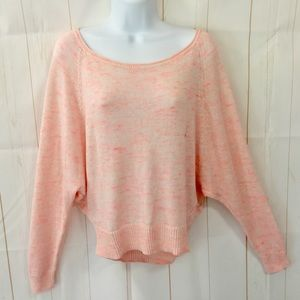 AEO Space Dyed Knit Slouchy Crop Sweater